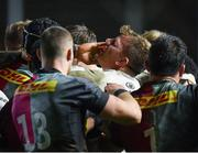13 December 2019; Jordi Murphy of Ulster receives a hand to the face as players from both sides tussle during the Heineken Champions Cup Pool 3 Round 4 match between Harlequins and Ulster at Twickenham Stoop in London, England. Photo by Seb Daly/Sportsfile