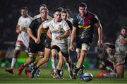 13 December 2019; John Cooney of Ulster kicks the ball through on his way to scoring his side's third try during the Heineken Champions Cup Pool 3 Round 4 match between Harlequins and Ulster at Twickenham Stoop in London, England. Photo by Seb Daly/Sportsfile