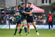 14 December 2019; Connacht players including Robin Copeland and Tom Daly celebrate at full-time following the Heineken Champions Cup Pool 5 Round 4 match between Connacht and Gloucester at The Sportsground in Galway. Photo by Harry Murphy/Sportsfile