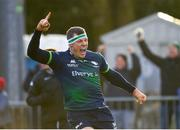 14 December 2019; Robin Copeland of Connacht celebrates after scoring his side's third try during the Heineken Champions Cup Pool 5 Round 4 match between Connacht and Gloucester at The Sportsground in Galway. Photo by Harry Murphy/Sportsfile
