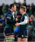 14 December 2019; Robin Copeland and Conor Fitzgerald of Connacht embrace following the Heineken Champions Cup Pool 5 Round 4 match between Connacht and Gloucester at The Sportsground in Galway. Photo by Harry Murphy/Sportsfile