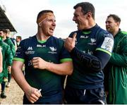 14 December 2019; Shane Delahunt, left, and Robin Copeland of Connacht embrace following the Heineken Champions Cup Pool 5 Round 4 match between Connacht and Gloucester at The Sportsground in Galway. Photo by Harry Murphy/Sportsfile