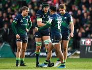 14 December 2019; Ultan Dillane and Bundee Aki of Connacht celebrate following the Heineken Champions Cup Pool 5 Round 4 match between Connacht and Gloucester at The Sportsground in Galway. Photo by Harry Murphy/Sportsfile