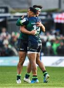 14 December 2019; Bundee Aki and Tom Daly of Connacht embrace following the Heineken Champions Cup Pool 5 Round 4 match between Connacht and Gloucester at The Sportsground in Galway. Photo by Harry Murphy/Sportsfile