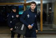 14 December 2019; Caelan Doris, right, and Andrew Porter of Leinster arrive ahead of the Heineken Champions Cup Pool 1 Round 4 match between Leinster and Northampton Saints at the Aviva Stadium in Dublin. Photo by Ramsey Cardy/Sportsfile