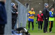 14 December 2019; Wicklow goalkeeper Mark Jackson leaves the field after picking up an injury in the first half during the 2020 O'Byrne Cup Round 2 match between Wicklow and Kildare at Joule Park in Aughrim, Wicklow. Photo by Piaras Ó Mídheach/Sportsfile