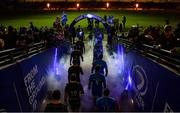 14 December 2019; Players from both sides make their way on to the pitch ahead of the Heineken Champions Cup Pool 1 Round 4 match between Leinster and Northampton Saints at the Aviva Stadium in Dublin. Photo by Sam Barnes/Sportsfile