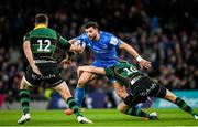 14 December 2019; Robbie Henshaw of Leinster is tackled by Dan Biggar of Northampton Saints during the Heineken Champions Cup Pool 1 Round 4 match between Leinster and Northampton Saints at the Aviva Stadium in Dublin. Photo by Ramsey Cardy/Sportsfile