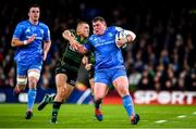 14 December 2019; Tadhg Furlong of Leinster is tackled by Ollie Sleightholme of Northampton Saints during the Heineken Champions Cup Pool 1 Round 4 match between Leinster and Northampton Saints at the Aviva Stadium in Dublin. Photo by Sam Barnes/Sportsfile