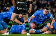 14 December 2019; Tadhg Furlong of Leinster scores his side's third try during the Heineken Champions Cup Pool 1 Round 4 match between Leinster and Northampton Saints at the Aviva Stadium in Dublin. Photo by Ramsey Cardy/Sportsfile