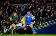 14 December 2019; Tadhg Furlong of Leinster in action against Ollie Sleightholme of Northampton Saints during the Heineken Champions Cup Pool 1 Round 4 match between Leinster and Northampton Saints at the Aviva Stadium in Dublin. Photo by Ramsey Cardy/Sportsfile