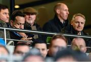 14 December 2019; An Taoiseach Leo Varadkar, left, and former Ireland head coach Joe Schmidt during the Heineken Champions Cup Pool 1 Round 4 match between Leinster and Northampton Saints at the Aviva Stadium in Dublin. Photo by Stephen McCarthy/Sportsfile