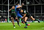 14 December 2019; Robbie Henshaw of Leinster is tackled by Ollie Sleightholme of Northampton Saints during the Heineken Champions Cup Pool 1 Round 4 match between Leinster and Northampton Saints at the Aviva Stadium in Dublin. Photo by Ramsey Cardy/Sportsfile