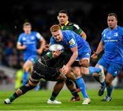 14 December 2019; Ciarán Frawley of Leinster is tackled by Ahsee Tuala of Northampton Saints during the Heineken Champions Cup Pool 1 Round 4 match between Leinster and Northampton Saints at the Aviva Stadium in Dublin. Photo by Ramsey Cardy/Sportsfile