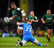 14 December 2019; Taqele Naiyaravoro of Northampton Saints is tackled by Ciaran Frawley of Leinster during the Heineken Champions Cup Pool 1 Round 4 match between Leinster and Northampton Saints at the Aviva Stadium in Dublin. Photo by Stephen McCarthy/Sportsfile