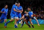 14 December 2019; Ciarán Frawley of Leinster is tackled by Sam Matavesi of Northampton Saints during the Heineken Champions Cup Pool 1 Round 4 match between Leinster and Northampton Saints at the Aviva Stadium in Dublin. Photo by Sam Barnes/Sportsfile