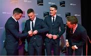 14 December 2019; In attendance during the RTÉ Sports Awards 2019 at RTÉ studios in Donnybrook, Dublin, are Members of the Dublin All-Ireland Men's Football Championship winning and five in a row winning squad, from left, Brian Howard, Ciaran Kilkenny, Brian Fenton and Paul Mannion. Photo by Brendan Moran/Sportsfile