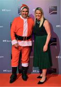 14 December 2019; In attendance during the RTÉ Sports Awards 2019 at RTÉ studios in Donnybrook, Dublin, are RTÉ sports presenters Des Cahill and Jacqui Hurley. Photo by Brendan Moran/Sportsfile
