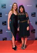 14 December 2019; In attendance during the RTÉ Sports Awards 2019 at RTÉ studios in Donnybrook, Dublin, are Members of the Dublin All-Ireland Ladies Football Championship winning and three in a row winning squad Ciara Trant, left, and Siobhan McGrath. Photo by Brendan Moran/Sportsfile