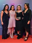 14 December 2019; In attendance during the RTÉ Sports Awards 2019 at RTÉ studios in Donnybrook, Dublin, are Members of the Ireland Olympic qualified hockey team, from left, Roisin Upton, Cliodhna Sargent, Chloe Watkins and Elena Tice. Photo by Brendan Moran/Sportsfile