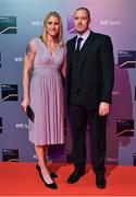14 December 2019; In attendance during the RTÉ Sports Awards 2019 at RTÉ studios in Donnybrook, Dublin, are 2019 World Rowing Single Sculls Champion Sanita Puspure and her husband Kasper. Photo by Brendan Moran/Sportsfile