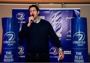 14 December 2019; Former Leinster player Mike McCarthy during a Q and A in The Blue Room at the Heineken Champions Cup Pool 1 Round 4 match between Leinster and Northampton Saints at the Aviva Stadium in Dublin. Photo by Sam Barnes/Sportsfile