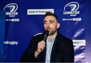 14 December 2019; Jack Conan of Leinster speaking during a Q and A in The Blue Room at the Heineken Champions Cup Pool 1 Round 4 match between Leinster and Northampton Saints at the Aviva Stadium in Dublin. Photo by Sam Barnes/Sportsfile
