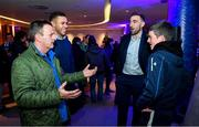 14 December 2019; Leinster players Adam Byrne, second from left, and Jack Conan, second from right, with guests in The Blue Room at the Heineken Champions Cup Pool 1 Round 4 match between Leinster and Northampton Saints at the Aviva Stadium in Dublin. Photo by Sam Barnes/Sportsfile