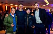 14 December 2019; Leinster players Adam Byrne, second from left, and Jack Conan, right, with guests in The Blue Room at the Heineken Champions Cup Pool 1 Round 4 match between Leinster and Northampton Saints at the Aviva Stadium in Dublin. Photo by Sam Barnes/Sportsfile
