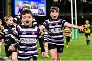 14 December 2019; Action from the Bank of Ireland Half-Time Minis match between Newbridge and Terenure at the Heineken Champions Cup Pool 1 Round 4 match between Leinster and Northampton Saints at the Aviva Stadium in Dublin. Photo by Sam Barnes/Sportsfile