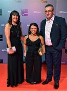 14 December 2019; In attendance during the RTÉ Sports Awards 2019 at RTÉ studios in Donnybrook, Dublin, are World Para Swimming bronze medallist in the women's 50m butterfly S6 class Nicole Turner with her parents Bernie and Jason Turner. Photo by Brendan Moran/Sportsfile