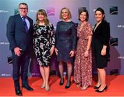 14 December 2019; In attendance during the RTÉ Sports Awards 2019 at RTÉ studios in Donnybrook, Dublin, are, from left, Declan McBennett, Head of RTÉ Sport, Sarah O'Shea, Secretary General at Olympic Federation of Ireland & Director at SOS Sports Consulting, Sarah Keane, President of the Olympic Federation o fIreland and CEO of Swim Ireland, Cliona O'Leary, RTÉ Sport, Deputy Head of TV Sport and Sarah O'Connor, Head of Sport at Wilson Hartnell PR. Photo by Brendan Moran/Sportsfile