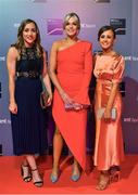 14 December 2019; In attendance during the RTÉ Sports Awards 2019 at RTÉ studios in Donnybrook, Dublin, are, from left, Galway GAA players Caitriona Cormican, Sarah Dervan and Tara Kenny. Photo by Brendan Moran/Sportsfile