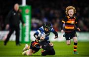 14 December 2019; Action from the Bank of Ireland Half-Time Minis between Wanderers RFC and Lansdowne RFC at the Heineken Champions Cup Pool 1 Round 4 match between Leinster and Northampton Saints at the Aviva Stadium in Dublin. Photo by Stephen McCarthy/Sportsfile