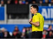 14 December 2019; Referee Pascal Gauzère during the Heineken Champions Cup Pool 4 Round 4 match between Saracens and Munster at Allianz Park in Barnet, England. Photo by Seb Daly/Sportsfile