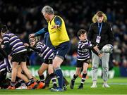 14 December 2019; Action from the Bank of Ireland Half-Time Minis between Newbridge and Terenure at the Heineken Champions Cup Pool 1 Round 4 match between Leinster and Northampton Saints at the Aviva Stadium in Dublin. Photo by Ramsey Cardy/Sportsfile