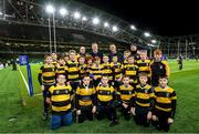 14 December 2019; The Newbridge team with Leinster players Dan Leavy and Jonathan Sexton at the Heineken Champions Cup Pool 1 Round 4 match between Leinster and Northampton Saints at the Aviva Stadium in Dublin. Photo by Ramsey Cardy/Sportsfile