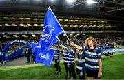 14 December 2019; Flagbearers from Wanderers at the Heineken Champions Cup Pool 1 Round 4 match between Leinster and Northampton Saints at the Aviva Stadium in Dublin. Photo by Ramsey Cardy/Sportsfile