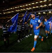 14 December 2019; Caelan Doris of Leinster ahead of the Heineken Champions Cup Pool 1 Round 4 match between Leinster and Northampton Saints at the Aviva Stadium in Dublin. Photo by Ramsey Cardy/Sportsfile
