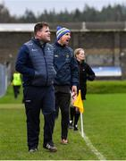 14 December 2019; Wicklow manager Davy Burke, front, with selector Gary Jameson during the 2020 O'Byrne Cup Round 2 match between Wicklow and Kildare at Joule Park in Aughrim, Wicklow. Photo by Piaras Ó Mídheach/Sportsfile