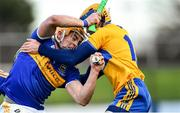 15 December 2019; Ronan Maher of Tipperary in action against Seadna Morey of Clare during the Co-op Superstores Munster Hurling League 2020 Group A match between Tipperary and Clare at McDonagh Park in Nenagh, Tipperary. Photo by Piaras Ó Mídheach/Sportsfile