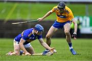 15 December 2019; Jason Forde of Tipperary in action against Colin Guilfoyle of Clare during the Co-op Superstores Munster Hurling League 2020 Group A match between Tipperary and Clare at McDonagh Park in Nenagh, Tipperary. Photo by Piaras Ó Mídheach/Sportsfile
