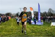 15 December 2019; Fionn Mcnamara of Annalee A.C., Co. Cavan, competing in the U13 Boy's 3500m during the Irish Life Health Novice & Juvenile Uneven XC at Cow Park in Dunboyne, Co. Meath. Photo by Harry Murphy/Sportsfile