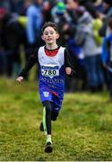 15 December 2019; Nathan Mooney of Ratoath A.C., Co. Meath, competing in the U13 Boy's 3500m during the Irish Life Health Novice & Juvenile Uneven XC at Cow Park in Dunboyne, Co. Meath. Photo by Harry Murphy/Sportsfile