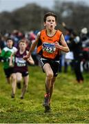 15 December 2019; Kevin Finn of Nenagh Olympic A.C., Co. Tipperary, competing in the U13 Boy's 3500m during the Irish Life Health Novice & Juvenile Uneven XC at Cow Park in Dunboyne, Co. Meath. Photo by Harry Murphy/Sportsfile