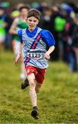 15 December 2019; Jim Finlay Queyras of Dundrum South Dublin A.C., Co. Dublin, competing in the U15 Boy's 3500m during the Irish Life Health Novice & Juvenile Uneven XC at Cow Park in Dunboyne, Co. Meath. Photo by Harry Murphy/Sportsfile