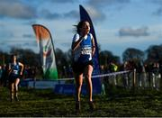 15 December 2019; Una O'Brien of Waterford A.C., Co. Waterford, on her way to winning the U19 Girl's 4000m during the Irish Life Health Novice & Juvenile Uneven XC at Cow Park in Dunboyne, Co. Meath. Photo by Harry Murphy/Sportsfile