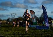 15 December 2019; Laura Healy of Ennis Track A.C., Co. Clare, competing in the U19 Girl's 4000m during the Irish Life Health Novice & Juvenile Uneven XC at Cow Park in Dunboyne, Co. Meath. Photo by Harry Murphy/Sportsfile
