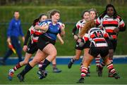 15 December 2019; Action during the Leinster Rugby Girls U16 Plate Final match between Enniscorthy and Wexford at Energia Park in Donnybrook, Dublin. Photo by Ramsey Cardy/Sportsfile