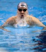 15 December 2019; Eoin Corby of National Centre Limerick competing in the Mens 200m Breaststroke final during day four of the Irish Short Course Championships at the National Aquatic Centre in Abbotstown, Dublin. Photo by Eóin Noonan/Sportsfile